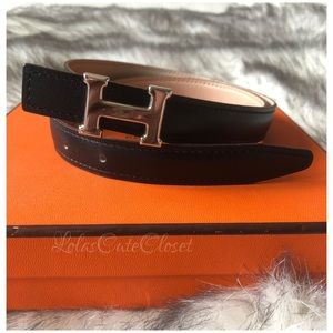 SOLD Authentic 13 mm Hermes Belt Size 75